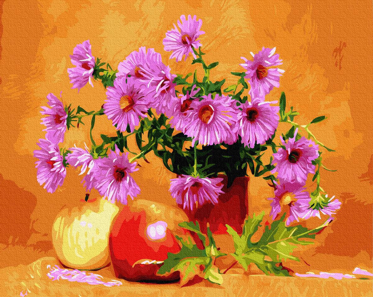 Картина за Номерами Айстри і яблука 40х50см RainbowArt