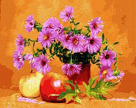 Картина по Номерам Астры и яблоки 40х50см RainbowArt