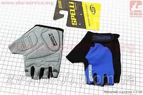 Перчатки без пальцев S-черно-cиние, с гелевыми вставками под ладонь SBG-1457
