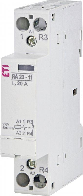 Модульный контактор ETI RA 20-11 20А 1NO+1NC 230V 2464097