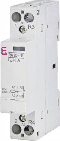 Модульный контактор ETI RA 20-11 20А 1NO+1NC 230V 2464097, фото 2