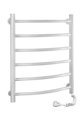 Полотенцесушитель электрический SANTAN Лестница Камелия 480х600 белый, правосторонний, фото 2