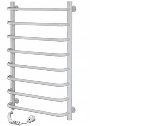 Полотенцесушитель электрический SANTAN Лестница Симфония 480х800 белый, левосторонний, фото 2