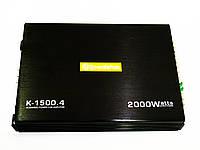 Автомобильный усилитель звука Roadstar K-1500.4 4-х канальный 2000W Black (4_00335)