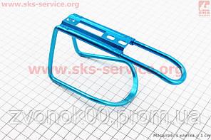 Флягодержатель алюминиевый, крепл. на раму, синий
