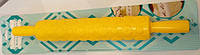 Скалка текстурная с ручками Ромашки