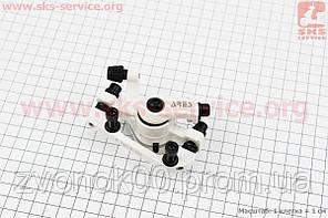 Тормозной суппорт задний (адаптер F180/R160мм), белый MDA08