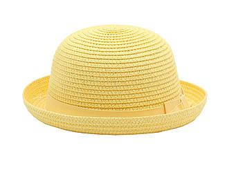 Детская летная пляжная шляпа от солнца для девочки желтого цвета 21584