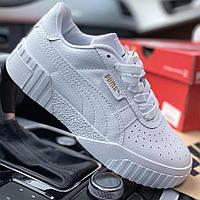 Женские кроссовки Puma Cali Sport White, пума кали белые, жіночі кросівки пума калі