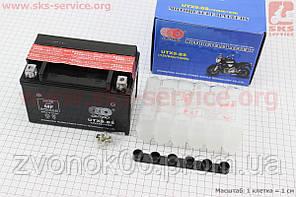 Аккумулятор 9Аh UTX9-BS (кислотный, сухой) 150/85/105мм, 2018