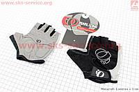 Перчатки без пальцев для велоспорта, M-черно-серые, с мягкими вставками под ладонь