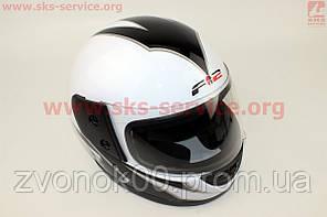 Шлем закрытый 825-2 S- БЕЛЫЙ с рисунком черным