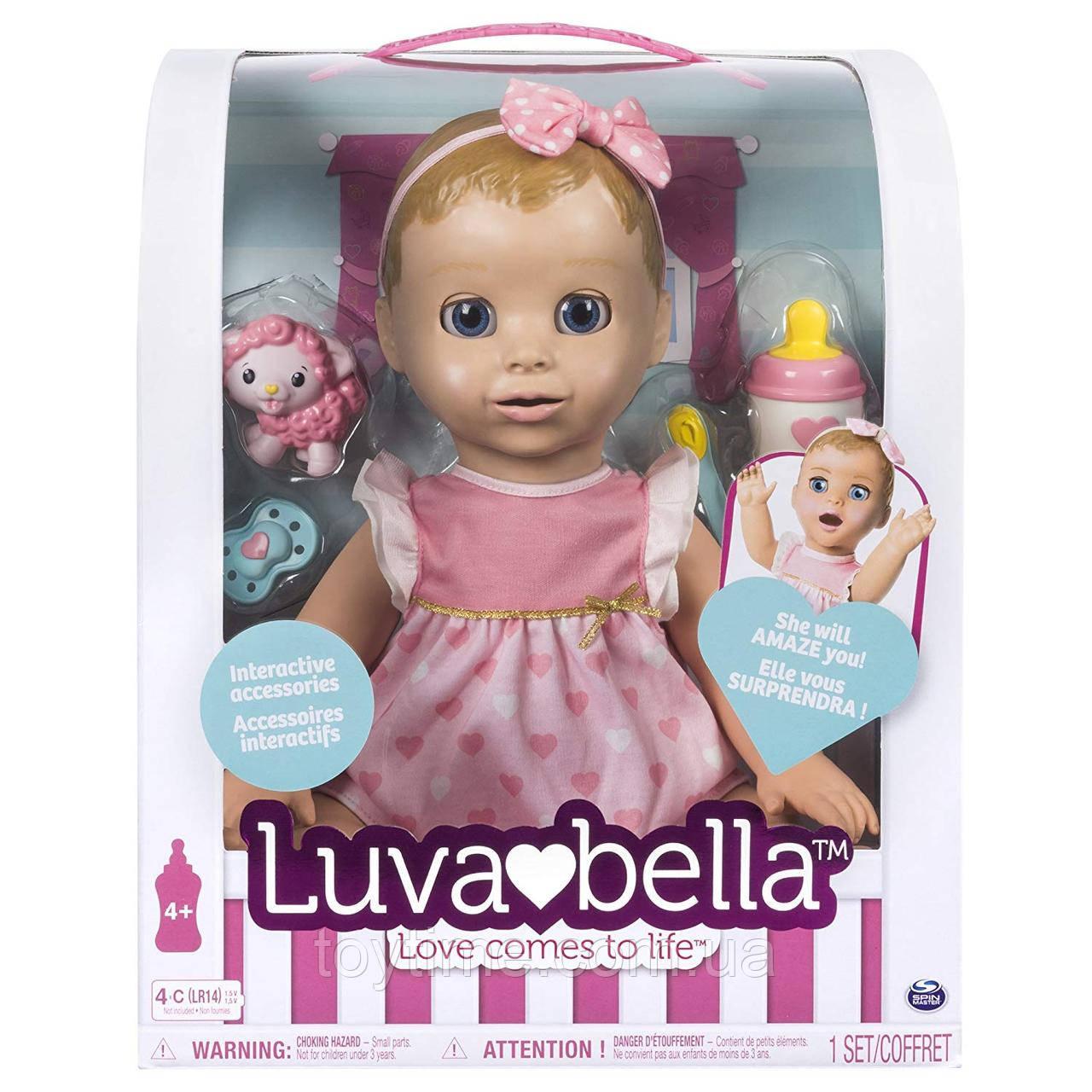 Интерактивная кукла Spin Master Luvabella / Лувабелла Blonde Hair Interactive Baby Doll (англ.яз)