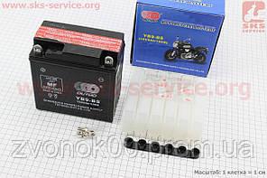 Аккумулятор 9Аh МОТО YВ9-BS (кислотный, сухой) 135/75/135мм, 2018