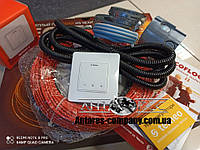 Тонкий кабель Fenix ADSV18680 ( 3.8 м2 ) с сенсорным терморегулятором Terneo S (Полный комплект)
