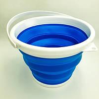 Складное силиконовое ведро на 5 литров круглой формы, фото 1