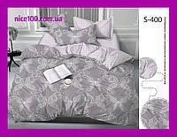 Двуспальный комплект постельного белья из хлопка на молнии Двоспальний комплект постільної білизни  S400