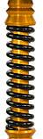 Кальян Mamay Customs Coilovers Anodized Aluminium Mini Золото пружина черная, фото 2