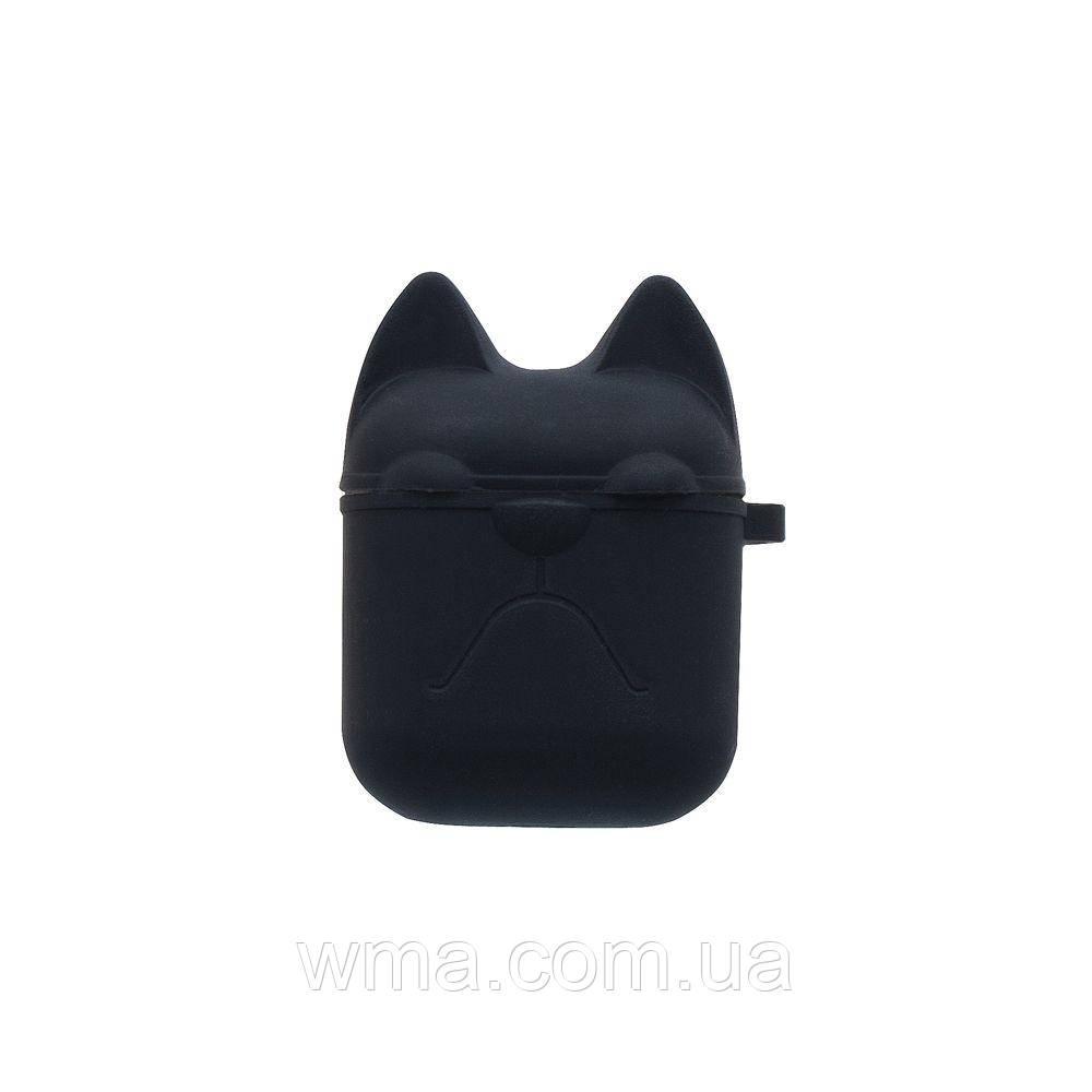 Футляр для наушников Airpod Dog Цвет Чёрный