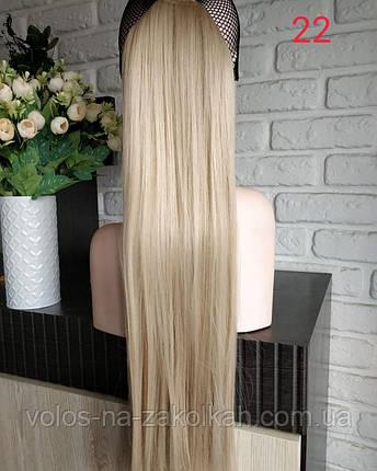 Хвост накладной на ленте цвет №22 холодный блонд, фото 2