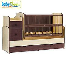 Кроватка-трансформер Baby Sleep (Angela) DTP-S-B, Nussbaum Dunkel & Elfenbein