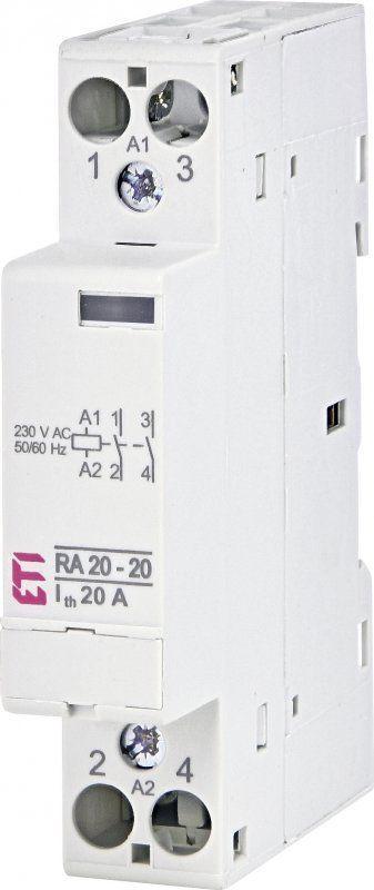 Модульный контактор ETI RD 20-11 20А 1NO + 1NC AC/DC 230V 2464006