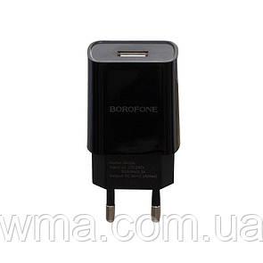 Сетевое Зарядное Устройство Borofone BA20A Type-C 1USB 2.1A Цвет Чёрный