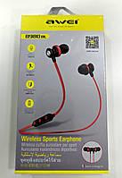 Спортивні Bluetooth навушники (гарнітура) Awei B980BL