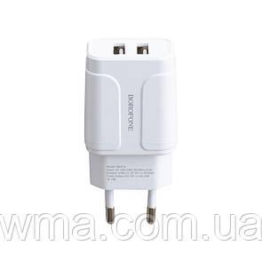 Сетевое Зарядное Устройство Borofone BA37A 2USB 2.4A 12W Цвет Белый