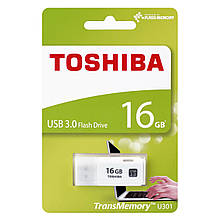 Флешка USB 3.0 TOSHIBA (U301) 16GB  White