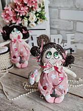 """""""Дівчинка-ангел"""" текстильна ручної роботи, сердечко із побажаннями, 22см., 180/150 (цена за 1 шт.+30гр.)"""