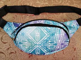 Молодежная поясная сумка из текстиля BR-S с этническим принтом 1213656518, фото 3