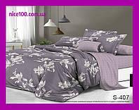 Двуспальный комплект постельного белья из хлопка на молнии Двоспальний комплект постільної білизни  S407