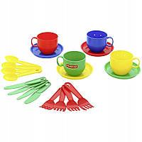 Набор детской посуды Полесье «Минутка», на 4 персоны, 54746