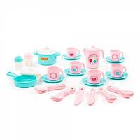 Набор детской посуды Полесье «Настенька», на 6 персон, 38 элементов, 80035