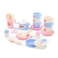 Набор детской посуды Полесье «Хозяюшка», на 6 персон, 38 элементов, 80226