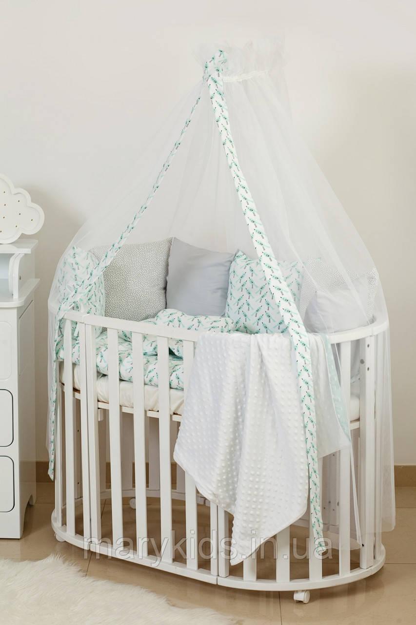Дитяче ліжко Twins Dolce 4064-DB-406 Пташки 8 елементів