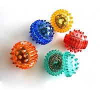 Лечебный комплект су-джок - мячик ежик (большой) + 1 кольцо