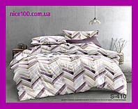 Двуспальный комплект постельного белья из хлопка на молнии Двоспальний комплект постільної білизни  S410