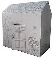 Картонный дом-раскраска .