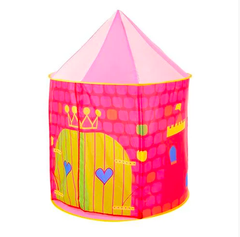 Палатка детская Замок розовая
