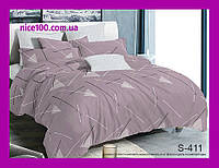 Двуспальный комплект постельного белья из хлопка на молнии Двоспальний комплект постільної білизни  S411