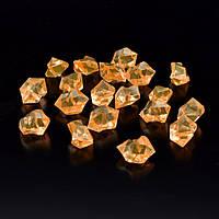 Кристаллы акрил 1,5x1,5x2,5 см оранжевые светлые упаковка 180 шт (42104.002)