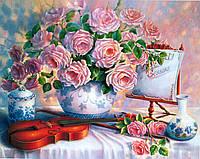 """""""Романтична скрипка"""" Картина по номерам цветы Розпис за номерами"""