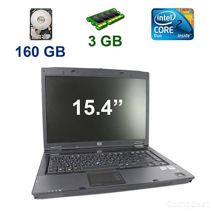 "HP Compaq 8510p / 15.4"" WSXGA+ LED / Intel Core 2 Duo T7500 (2 ядра по 2.2 GHz) / 3 GB RAM / 160 GB HDD, фото 2"