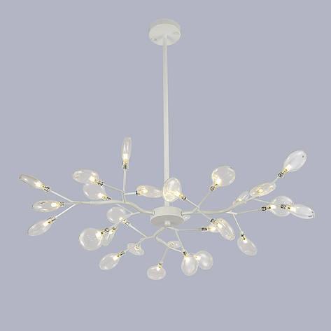 Потолочная белая люстра из 27 стеклянных лепестков, фото 2