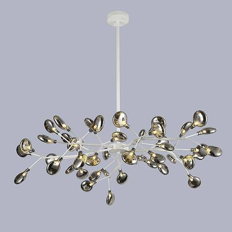 Потолочная белая люстра из 45 стеклянных лепестков, фото 2