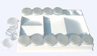 Палитра пласт прямоугольная с лунками 20.5х15х3см + 12 БАНОЧЕК с кришечкой D.K.ART & CRAFT