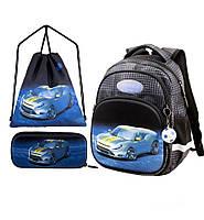 Рюкзак в 1 класс школьный для мальчика 6 лет набор пенал + сумка для обуви Winner One 1711 34*25*16 см