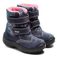 Мембранные зимние ботинки Kapika, для девочки, сиреневые на липучках,  размер 29-34, фото 1